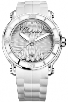 Chopard Happy Sport Round Quartz 42mm Ladies watch, model number - 288525-3002, discount price of £4,887.00 from The Watch Source