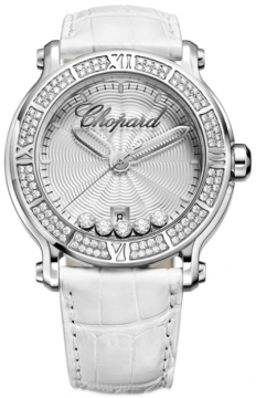 Chopard Happy Sport Round Quartz 42mm Ladies watch, model number - 288525-3003, discount price of £13,005.00 from The Watch Source