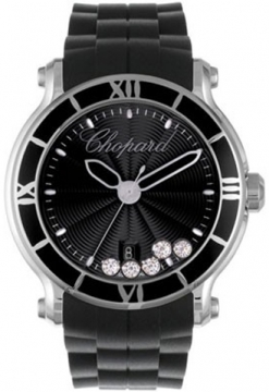 Chopard Happy Sport Round Quartz 42mm Ladies watch, model number - 288525-3005, discount price of £4,887.00 from The Watch Source