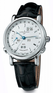 Ulysse Nardin GMT +/- Perpetual 38.5mm Mens watch, model number - 320-22, discount price of £23,055.00 from The Watch Source