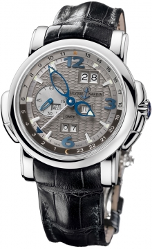 Ulysse Nardin GMT +/- Perpetual 42mm Mens watch, model number - 320-60/69, discount price of £30,690.00 from The Watch Source