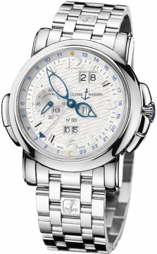 Ulysse Nardin GMT +/- Perpetual 42mm Mens watch, model number - 320-60-8/60, discount price of £49,236.00 from The Watch Source