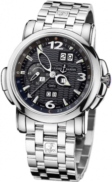 Ulysse Nardin GMT +/- Perpetual 42mm Mens watch, model number - 320-60-8/62, discount price of £49,236.00 from The Watch Source