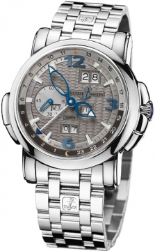 Ulysse Nardin GMT +/- Perpetual 42mm Mens watch, model number - 320-60-8/69, discount price of £43,443.00 from The Watch Source