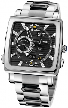 Ulysse Nardin Quadrato Dual Time Perpetual Mens watch, model number - 320-90-8m/92, discount price of £50,366.00 from The Watch Source