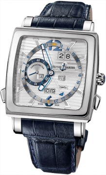 Ulysse Nardin Quadrato Dual Time Perpetual Mens watch, model number - 320-90/91, discount price of £33,872.00 from The Watch Source