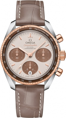 Buy this new Omega Speedmaster Co-Axial Chronograph 38mm 324.23.38.50.02.002 ladies watch for the discount price of £4,104.00. UK Retailer.