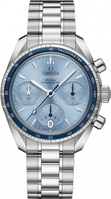 Buy this new Omega Speedmaster Co-Axial Chronograph 38mm 324.30.38.50.03.001 ladies watch for the discount price of £3,240.00. UK Retailer.