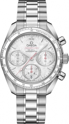 Buy this new Omega Speedmaster Co-Axial Chronograph 38mm 324.30.38.50.55.001 ladies watch for the discount price of £3,960.00. UK Retailer.