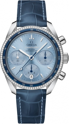 Buy this new Omega Speedmaster Co-Axial Chronograph 38mm 324.38.38.50.03.001 ladies watch for the discount price of £5,328.00. UK Retailer.
