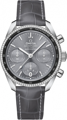Buy this new Omega Speedmaster Co-Axial Chronograph 38mm 324.38.38.50.06.001 ladies watch for the discount price of £5,328.00. UK Retailer.