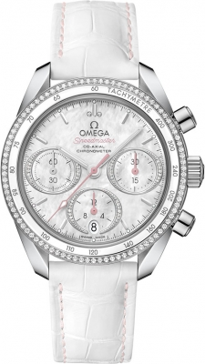 Buy this new Omega Speedmaster Co-Axial Chronograph 38mm 324.38.38.50.55.001 ladies watch for the discount price of £6,048.00. UK Retailer.