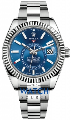 Rolex Sky Dweller 42mm 326934 Blue Index watch