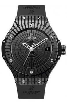 Hublot Big Bang Ceramic Caviar 41mm Midsize watch, model number - 346.cx.1800.rx Black Caviar, discount price of £6,000.00 from The Watch Source