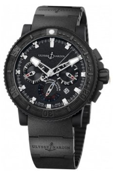 Ulysse Nardin Maxi Marine Diver Black Sea Chronograph Mens watch, model number - 353-92-3C, discount price of £6,604.00 from The Watch Source