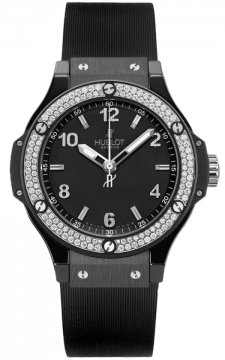 Hublot Big Bang Quartz Black Magic 38mm Ladies watch, model number - 361.cv.1270.rx.1104, discount price of £7,400.00 from The Watch Source