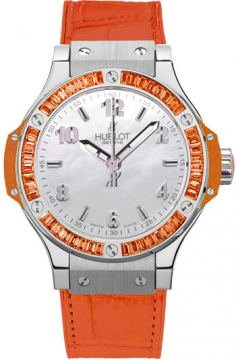 Hublot Big Bang Quartz Steel Tutti Frutti 38mm Ladies watch, model number - 361.so.6010.lr.1906 ORANGE, discount price of £10,900.00 from The Watch Source