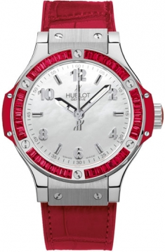 Hublot Big Bang Quartz Steel Tutti Frutti 38mm Ladies watch, model number - 361.sr.6010.lr.1913 RED, discount price of £10,900.00 from The Watch Source