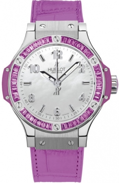 Hublot Big Bang Quartz Steel Tutti Frutti 38mm Ladies watch, model number - 361.sv.6010.lr.1905 Purple, discount price of £10,900.00 from The Watch Source