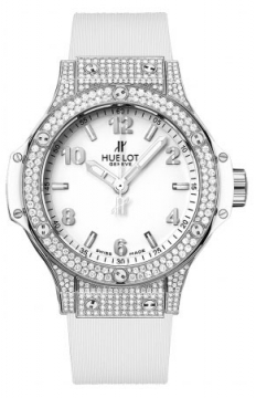 Hublot Big Bang Quartz Steel 38mm Ladies watch, model number - 361.se.2010.rw.1704, discount price of £10,400.00 from The Watch Source