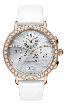 Blancpain Ladies Chronograph Flyback Grande Date Ladies watch, model number - 3626-2954-58a, discount price of £24,990.00 from The Watch Source