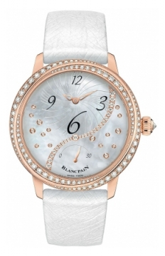 Blancpain Ladies Off Centered Hour Retrograde Seconds Ladies watch, model number - 3650a-3754-58b, discount price of £20,447.00 from The Watch Source