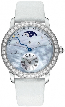 Blancpain Ladies Retrograde Calendar Moonphase Ladies watch, model number - 3653-1954L-58b, discount price of £24,378.00 from The Watch Source