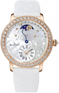 Blancpain Ladies Retrograde Calendar Moonphase Ladies watch, model number - 3653-2954-58b, discount price of £24,378.00 from The Watch Source