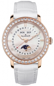 Blancpain Ladies Moonphase & Complete Calendar 35mm Ladies watch, model number - 3663-2954-55b, discount price of £17,903.00 from The Watch Source