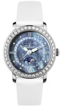 Blancpain Ladies Moonphase & Complete Calendar 35mm 3663-4654L-52b watch