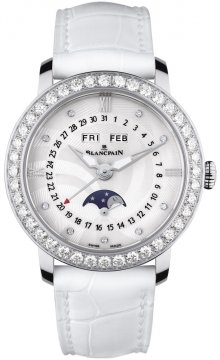 Blancpain Ladies Moonphase & Complete Calendar 35mm Ladies watch, model number - 3663a-4654-55b, discount price of £11,584.00 from The Watch Source