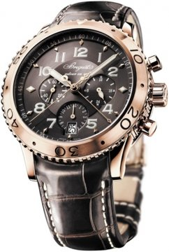 Breguet Transatlantique Type XXI Flyback Mens watch, model number - 3810br/92/9zu, discount price of £12,750.00 from The Watch Source