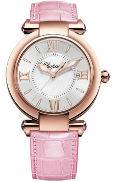 Chopard Imperiale Quartz 36mm Ladies watch, model number - 384221-5001 pink, discount price of £8,406.00 from The Watch Source