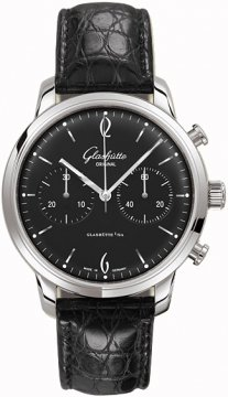 Glashutte Original Senator Sixties Chronograph Mens watch, model number - 39-34-02-22-04, discount price of £4,920.00 from The Watch Source
