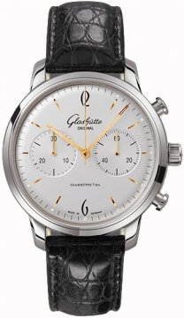 Glashutte Original Senator Sixties Chronograph Mens watch, model number - 39-34-03-22-04, discount price of £5,100.00 from The Watch Source