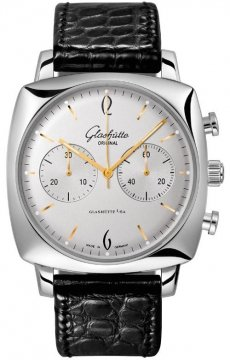 Glashutte Original Sixties Square Chronograph Mens watch, model number - 39-34-03-32-04, discount price of £5,140.00 from The Watch Source