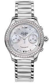 Glashutte Original Lady Serenade Chronograph Ladies watch, model number - 39-34-12-12-34, discount price of £9,647.00 from The Watch Source