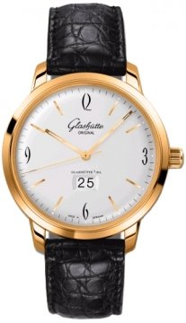 Glashutte Original Senator Sixties Panorama Date Mens watch, model number - 39-47-01-01-04, discount price of £10,506.00 from The Watch Source