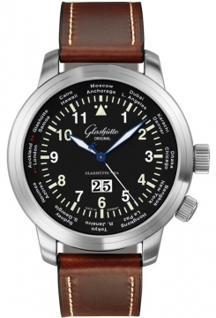 Glashutte Original Senator Navigator Worldview Mens watch, model number - 39-47-07-07-04, discount price of £5,678.00 from The Watch Source