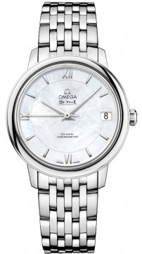 Buy this new Omega De Ville Prestige Co-Axial 32.7 424.10.33.20.05.001 ladies watch for the discount price of £2,448.00. UK Retailer.