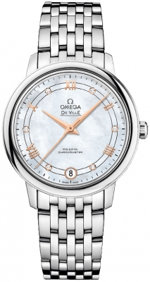 Buy this new Omega De Ville Prestige Co-Axial 32.7 424.10.33.20.55.002 ladies watch for the discount price of £3,258.00. UK Retailer.