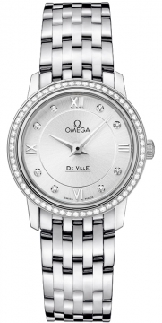 Omega De Ville Prestige 27.4mm Ladies watch, model number - 424.15.27.60.52.001, discount price of £4,510.00 from The Watch Source