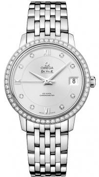 Buy this new Omega De Ville Prestige Co-Axial 32.7 424.15.33.20.52.001 ladies watch for the discount price of £8,280.00. UK Retailer.