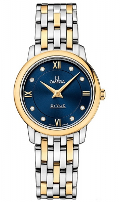 Buy this new Omega De Ville Prestige 27.4mm 424.20.27.60.53.002 ladies watch for the discount price of £3,276.00. UK Retailer.