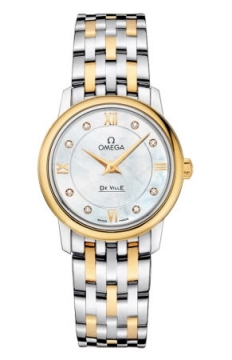 Omega De Ville Prestige 27.4mm Ladies watch, model number - 424.20.27.60.55.001, discount price of £3,065.00 from The Watch Source