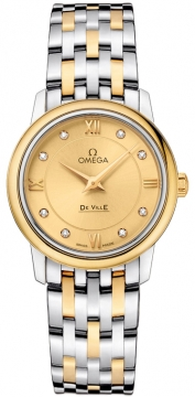 Buy this new Omega De Ville Prestige 27.4mm 424.20.27.60.58.001 ladies watch for the discount price of £4,131.00. UK Retailer.
