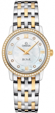 Omega De Ville Prestige 27.4mm Ladies watch, model number - 424.25.27.60.55.001, discount price of £6,804.00 from The Watch Source