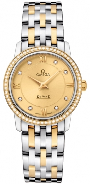 Omega De Ville Prestige 27.4mm Ladies watch, model number - 424.25.27.60.58.001, discount price of £6,288.00 from The Watch Source