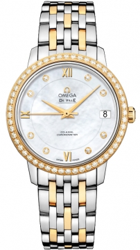 Omega De Ville Prestige Co-Axial 32.7 Ladies watch, model number - 424.25.33.20.55.001, discount price of £8,160.00 from The Watch Source