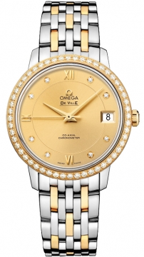 Omega De Ville Prestige Co-Axial 32.7 Ladies watch, model number - 424.25.33.20.58.001, discount price of £7,960.00 from The Watch Source